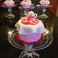 Tea Party Mini Cakes Using Sweetopia's Instructions
