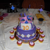 Mardi Gras Birthday Cake This was my first big fondant cake.