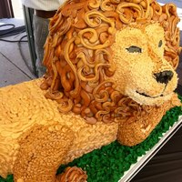 Lion Cake Lion cake in buttercream