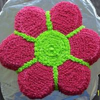 Flower Power All buttercream flower paoer cake