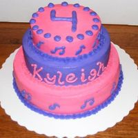Hannah Montana Birthday Cake 3 tier chocolate cake for a Hannah Montana themed birthday. The picture does not do the colors justice on this cake. All butter cream, pink...