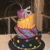 Topsy With Light This cake had a fiber optic as a kind of topper, to light up it in the dark. TFL!