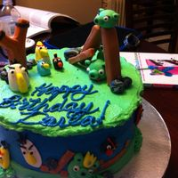Angry Birds For The Win Angry birds cake for a Mom's birthday