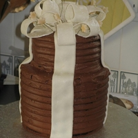 2 Tier Chocolate Bow