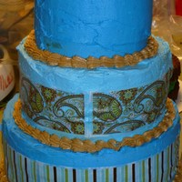 40Th Birthday Cake I made this cake for my 40th birthday. I used Cake Tattoo around the bottom 2 layers.