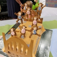 Eight Little Monkeys Jumping On The Bed This was a cake I made for a birthday party celebrating 4 sets of twins (including mine!) who are all turning 2. Many thanks to the great...