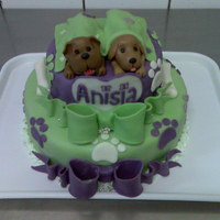 Puppy Cake Marzipan puppies