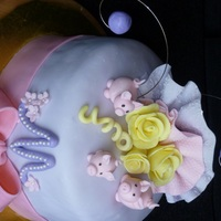 Three Little Piggies Birthday Cake made this for a 13 yr. old surprise bithday party.. She LOVES pink pigs...