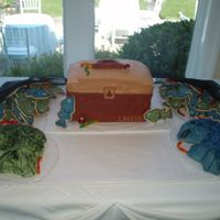 Groom's Cake - Fishing Themed This was the first cake I've been commisioned to do for someone outside my immediate family. Tackle Box and Fish cakes are decorated...