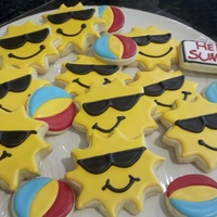 Sun And Beach Ball Cookies Cookies for the end of year picnic at my daughter's preschool.