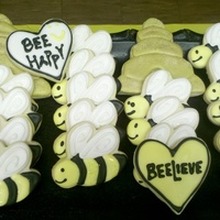 Bee Cookies Bee cookies to end the week of VBS at our church.