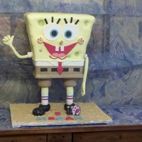 Stand-Up Spongebob I made this cake for my daughters' 5th b-day. It was my first sculpted/3D and really turned out great.