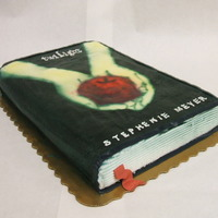 Twilight Book This a single layer vanilla cake, in butter cream, and airbrushed. Thanks for looking.