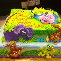 Jungle Animals all buttercream