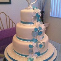Cascading Hearts Made this one for my brother and new sister in law.