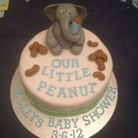 Our Little Peanut Baby Shower Cake