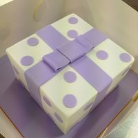 Purple Square Cake