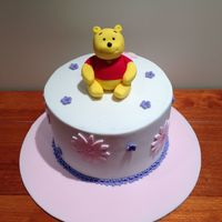 Winnie The Pooh Baby Shower Cake Triple layered choc cake - Winnie the Pooh baby shower cake