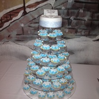 Winter Wonderland Snow Flake Cake & Cupcakes