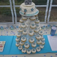 Me To You Themed Baby Shower Cake & Cupcakes