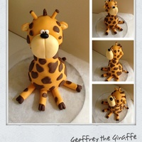 Giraffe Topper For Christening Cake
