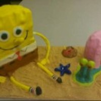 Sponge Bob And Gary Sponge Bob and Gary made with fondant.