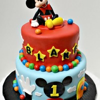 Mickey Mouse And Accents Are Fondant Cake Covered In Fondant mickey mouse and accents are fondant, cake covered in fondant