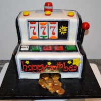 Slot Machine Fondant Accents With Choco Gold Coins slot machine- fondant accents with choco gold coins