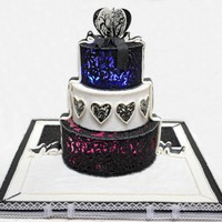 Half Cakehalf Royal Icing Cage Cake With Lights Inside half cake/half royal icing cage cake with lights inside