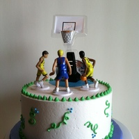 "Basketball 7"" cake with butttercream frosting."