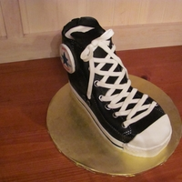 Converse Chuck Taylor Cake   Carved cake covered in fondant. Hand painted accents. Design inspired by many wonder CC pictures!