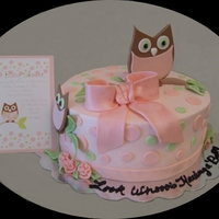 Girl Baby Shower Owl Theme