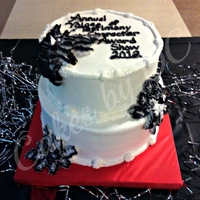 Black And White Celebration Cake