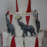 Circus White cake with buttercream and marzipan