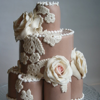 Rose Birthday cake with marzipan roses