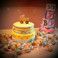 Baby Shower Cake With Cake Pops