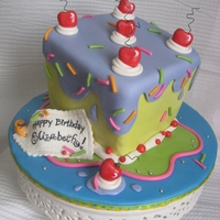 Whimsical Birthday Cake Fondant throughout, let me know if questions! : )