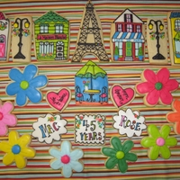 Paris Anniversary Cookies This was inspiration from an amazing cookie artisian on Flickr. I had the best time making these. Most all of the cookies were hand cut...