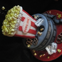 Dreamy Movie Popcorn Cake!   This was so much fun to make! Everything made from Satin Ice