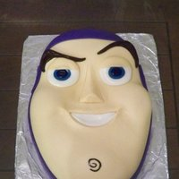 Buzz Lightyear Cake Fondant covered sculpted cake for family.