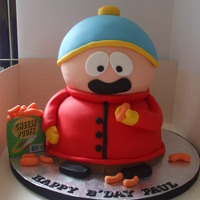 South Park Cartman Cake. I made this cake for my brothers birthday. He likes South Park and Cartman is his favourite character.