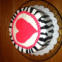 Zebra Stripes With Heart  I have to give a huge shout out to DSmo for the instructions on this cake!! It's all buttercream, and thanks to her instructions, I...