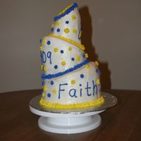 Topsy-Turvy Cake My first Topsy-turvy cake! I don't like how the top layer isn't completely straight and how the 2nd layer isn't centered (I...