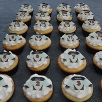 Hockey Jersey Cupcakes   Red Circle Select jersey cupcakes
