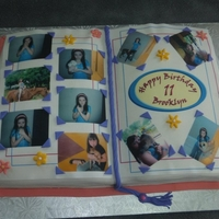 Scrapbook cake made by my 13 year-old for her sister!
