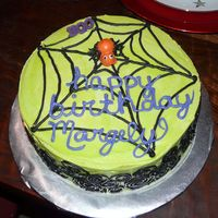 Spiderweb With Spider I did this cake last year at a request from work.