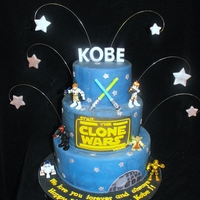 Star Wars Clone Wars! This cake was an extra special one for me. My first Icing Smiles cake! :) Figures are from the Playskool Heroes line of toys, and were just...