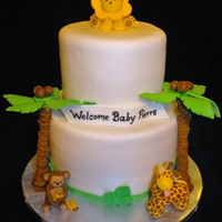 Jungle Baby Shower Simple design with jungle animals and palm trees