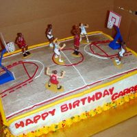 Basketball Cake For Garrett I had no idea how to do a basketball court!! I am not the best at piping, but the 11 yr. old seemed to be impressed with the free-throw...