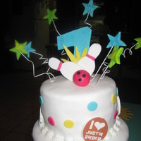 Lucky Strike   made this cake for my goddaughter bday, fondant covered cake.